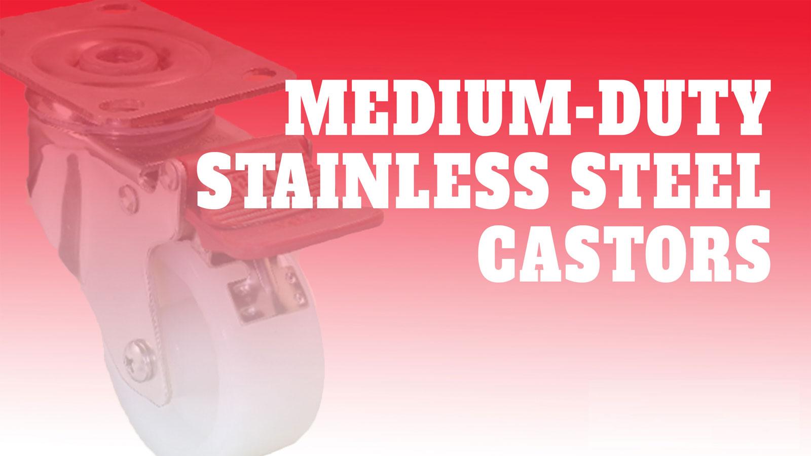 Castor-Medium-Duty-Stainless-Steel
