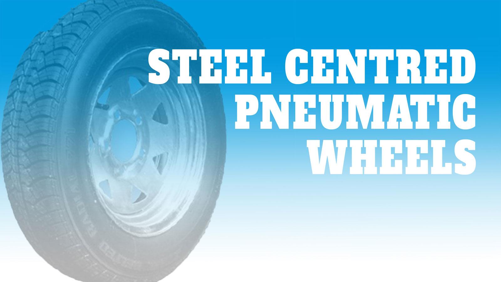 Wheels-Steel-Centred-Pneumatic
